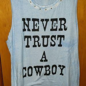 Never trust a cowboy tank